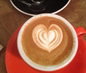 My cappuccino hearts me!!