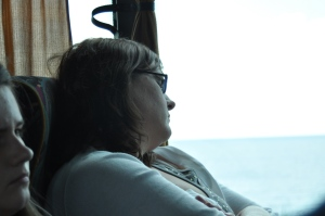 One of MANY pictures of me sleeping on the bus!