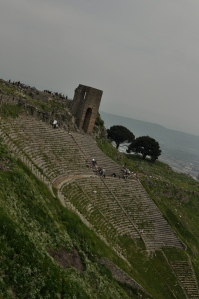 Pergamon has the steepest theatre, with a seating capacity of 10,000 people