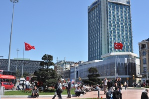 as we wandered down the street from our hotel, we realized we were right next to Taksim Square