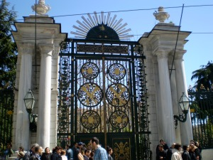 We had no clue what was behind these gates, but--if the gates were any indication--something impressive!