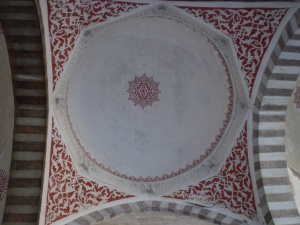ceiling decorations of the courtyard walkway