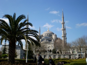 A side shot of the Hagia Sophia