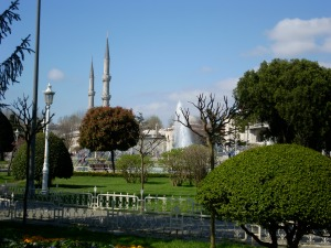 The gardens between The Hagia Sophia and The Blue Mosque