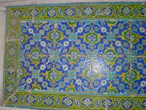 detailing of the tile of the entrance to Audience Chamber