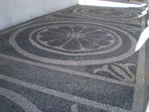 of course, I loved the decorative sidewalks!