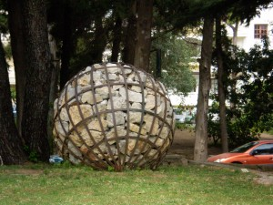 No one could explain why there was a big ball of rocks...