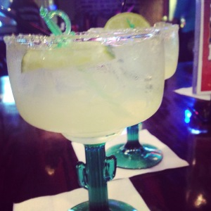 if you're going to have a margarita, it might as well come in a cactus stemmed glass!