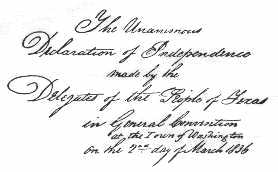 texas declaration
