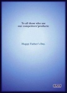happy fathers day advertising