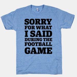 sorry football